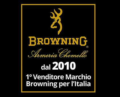 Dal 2010 - 1° venditore marchio Browning in Italia